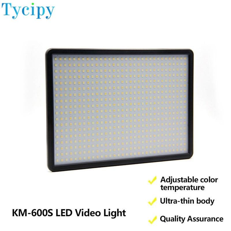 Tycipy Dimmaler camera KM-600S LED Photo video Studio Photography Light For DLSR 50000H 1500ML NP-F550 battery and handle np f960 f970 6600mah battery for np f930 f950 f330 f550 f570 f750 f770 sony camera