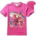 Девушка одежда Дети тенниски хлопка с коротким рукавом футболки Троллей мультфильм летние девушки одежда новый 2017