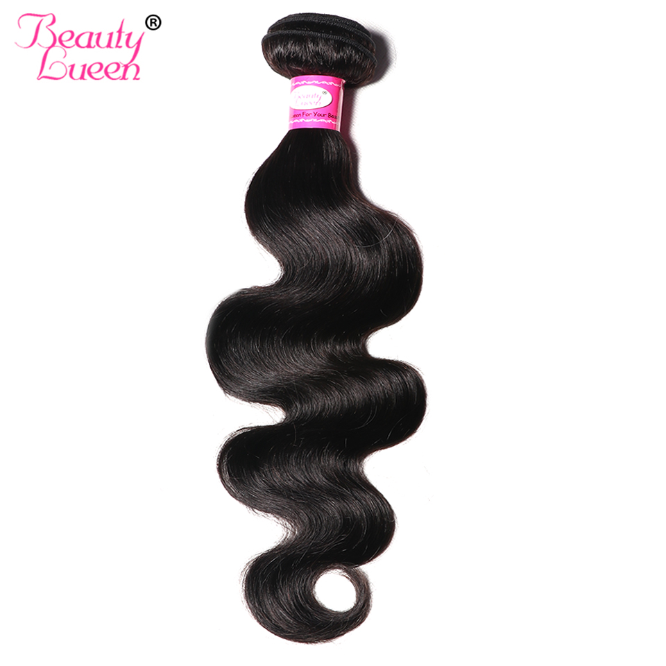 Peruvian Body Wave Human Hair Bundles Weave Non Remy Hair Weave Natural Black Color 8-28 Inch 1 Piece Only Beauty Lueen