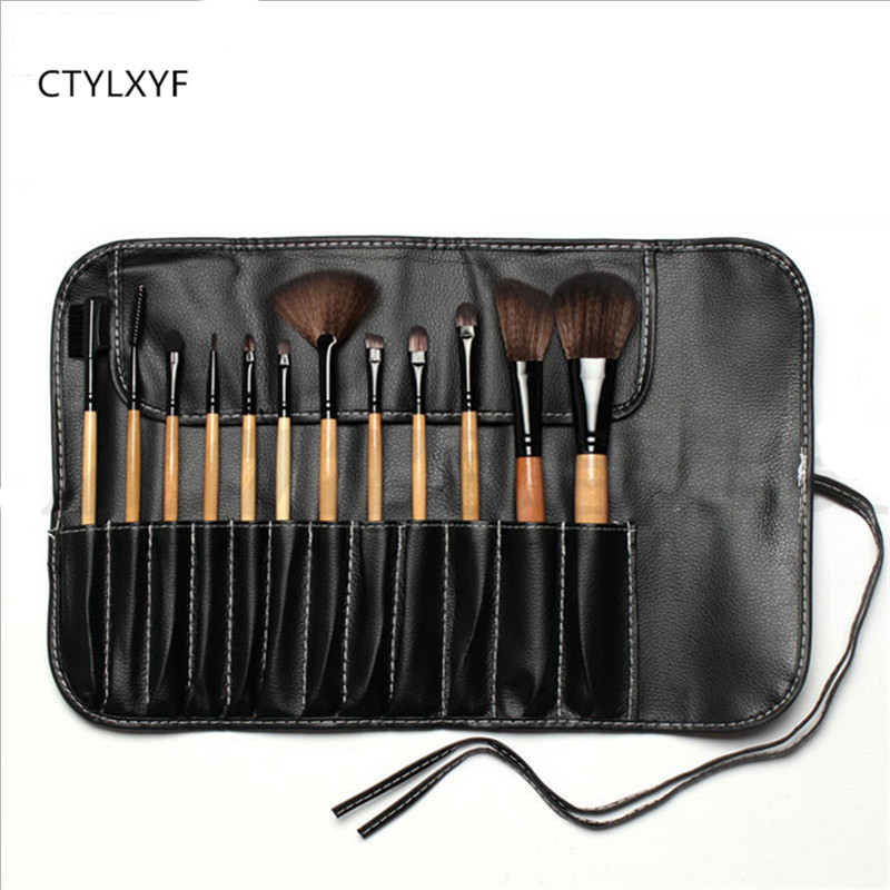 12/24Pcs Makeup Brushes Cosmetic Tool Kits Professional Eyeshadow Powder Eyeliner Contour Brush  with Case bag pincel maquiage