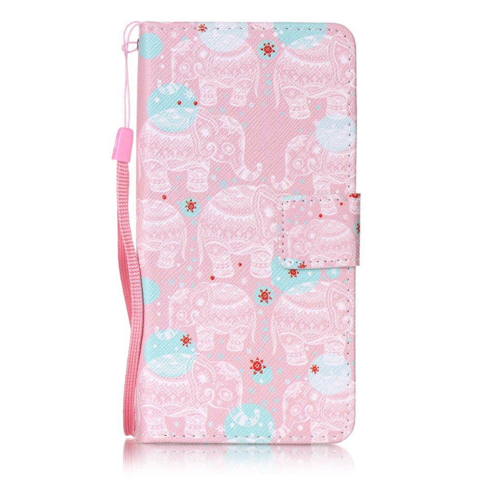 FUSHUN For Sony XP Painting flower cat pattern PU Leather case Flip wallet card slot holder mobile phone shell