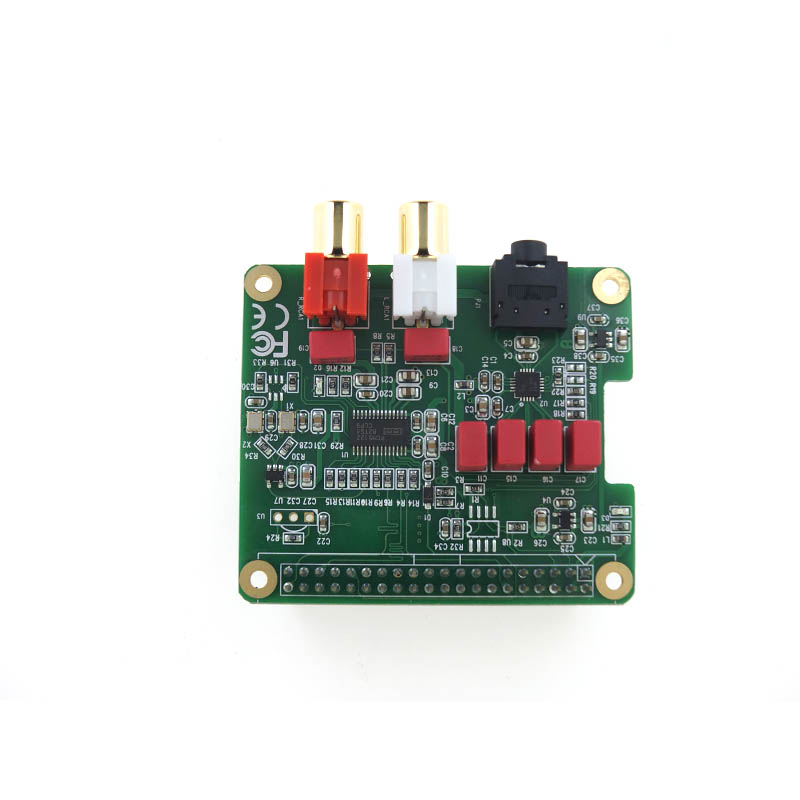 Raspberry Pi DAC Expansion Board PCM5122 HIFI Audio Module Compatible W/ Raspberry Pi 3 Model B+(Plus), 3B, 2B, B+