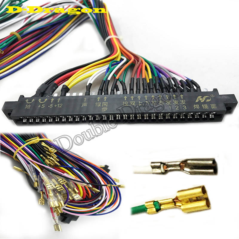 Arcade Interface Cabinet Wire Wiring Harness PCB Cable For ... on