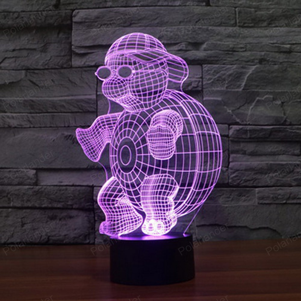 Colorful table lamps - 3d Led Night Light Table Lamps House Decor Reading Novetly Usb Sleeping Lamp Colors Changing
