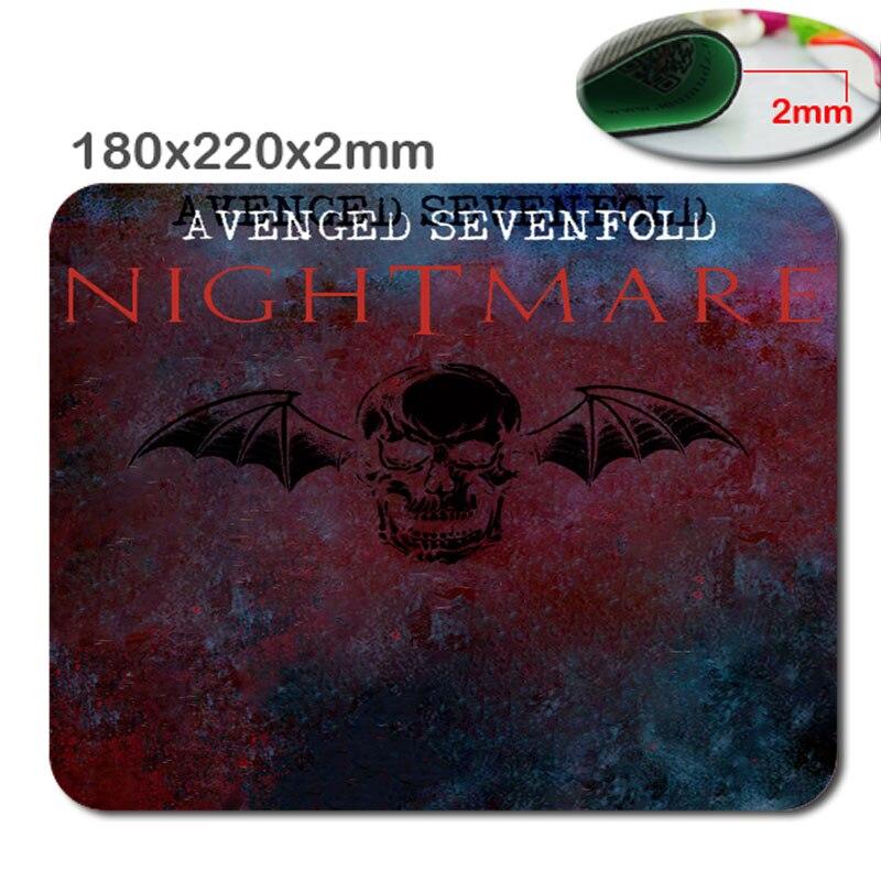 Üst Satış Amerikan Rock Band Avenged Sevenfold A7X Kaymaz Durabble Kauçuk Destek Güzel Mouse Pad Mouse Fare Mat Mousepad