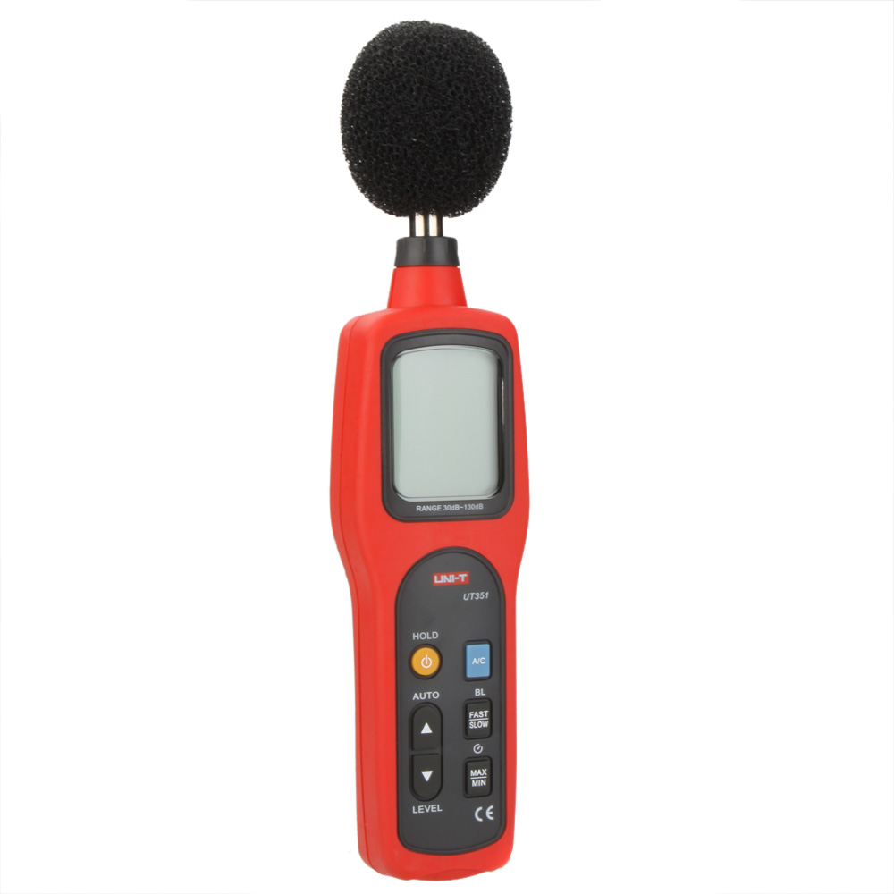 UNI-T UT351 Digital Sound Level Meter dB Decibel Meter Noise Tester Measuring 30-130dB with LCD Backlight  цены