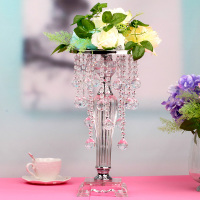 Luxury Clear Acrylic Beads Flower Stand Wedding Bar Celebration Home Decoration European Style Flower Rack 3 Sizes Ornament