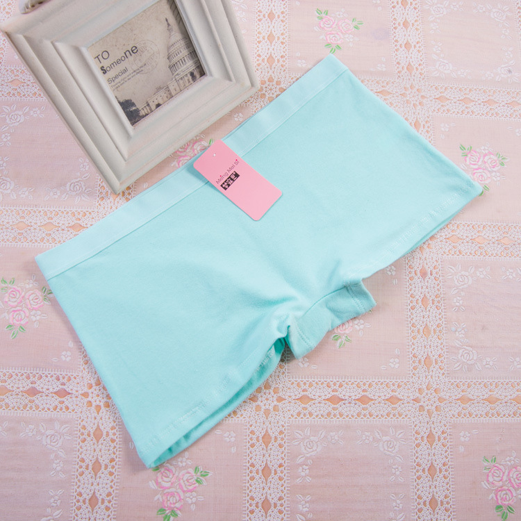100% Natural Cotton Female Underwear Girl Mid Waist Boxer Briefs Lingerie Underpants for Women Intimates Knickers   Panties