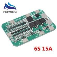6S 15A 24V PCB tablica ochronna BMS dla 6 paczek 18650 Li ion bateria litowa moduł DIY Kit