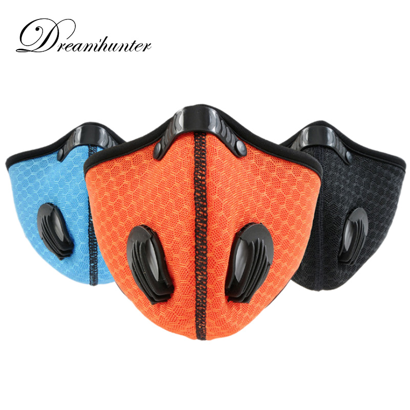 Breathable Outdoor Sports Mask Cycling Running Carbon Dust proof Half Face Mask Motorbike Ski Face Protectors