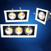 Dimmable 2*10W Double COB LED Downlight all with power Driver COB LED Down Light discount chandelier Ceiling