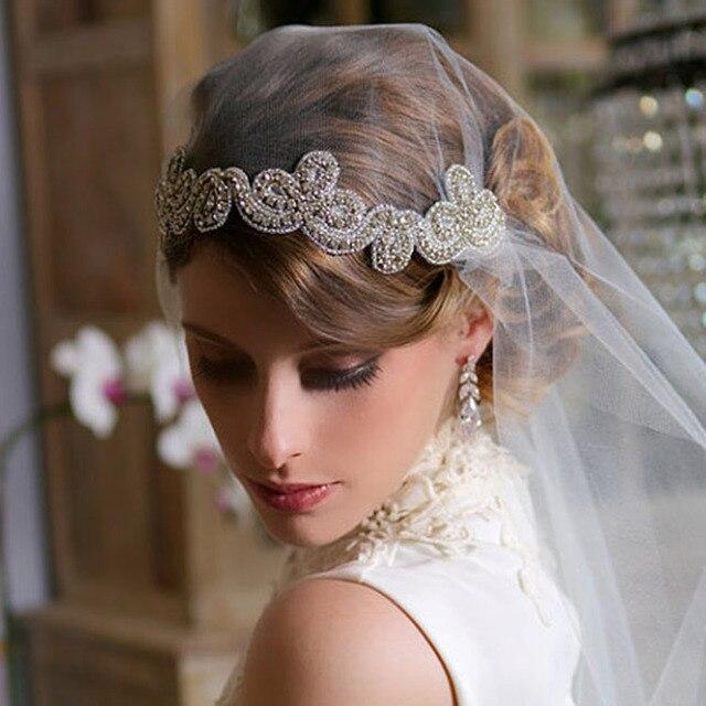Braut Strass Stirnbander Mit Braut Schleier Set Vintage Hochzeit