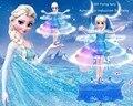 Mais novo Elsa Com Música Brinquedo Flying Fairy Controle Infravermelho de Indução Voador Bonecas Para Meninas Brinquedos de Controle Remoto Caixa de Rainha da Neve