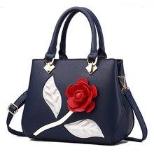 Большой красный цветок розы сумка женская Для женщин Сумки Роскошные Для женщин сумка известного бренда Винтаж Для женщин сумка женская сумка Bolsa feminina