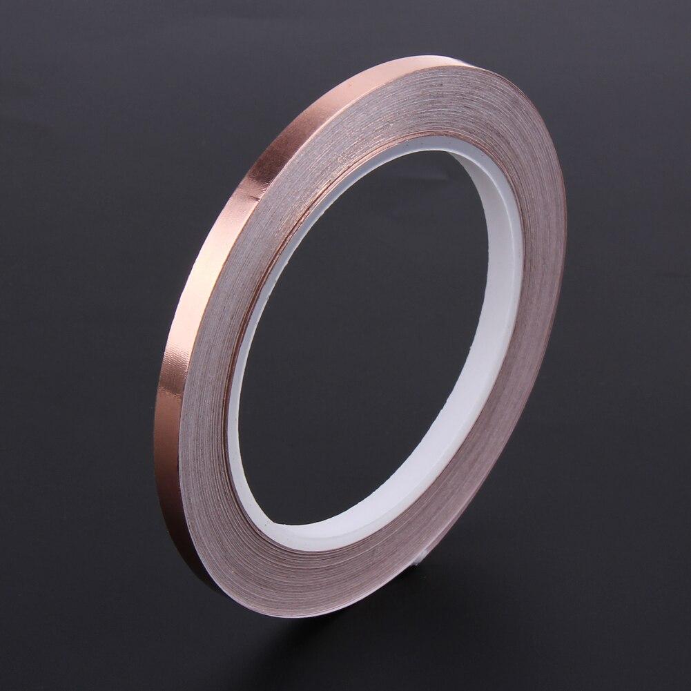1 Pcs Tembaga Foil Tape 20 M Panjang 6 Mm Lebar Perekat Pita Copper Isolasi 50mm X 1m 1x20 6mm