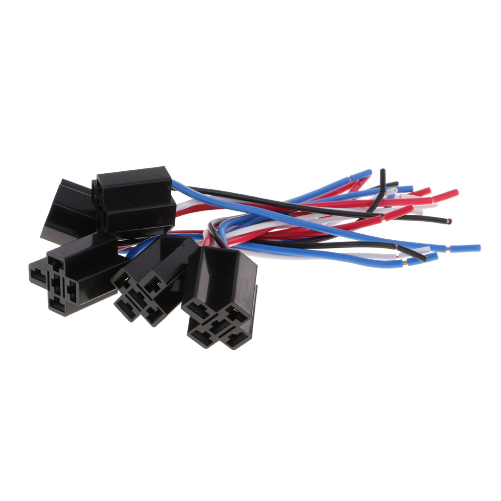 5 Pieces DC12V 80Amp Car SPST Automotive Relay 4 Pin 4 Wires Harness Socket  -in Relays from Home Improvement on Aliexpress.com | Alibaba Group