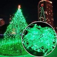 Venta Impermeable al aire libre hogar 100M verde guirnaldas de luces LED fiesta de Navidad boda vacaciones