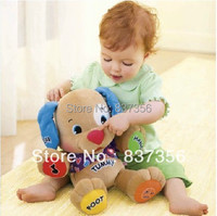Free Shipping Early Education Toys Baby Musical Plush Toys Dog Singing English Songs Speaking Toys Baby