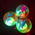 2016 Children's toys 5.5cm diameter flash bang force bouncing ball luminous crystal ball ball free shipping