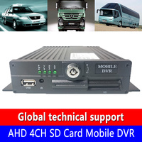 Technical support AHD 4CH SD Card Mobile DVR factory direct sales h. 264 video coding support OEM,ODM taxi video monitoring host