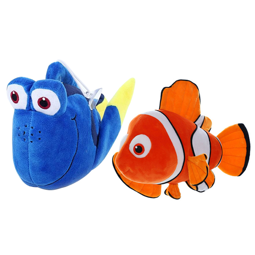 1pc 20cm Finding Nemo plush toys, Nemo and Dory fish Stuffed Animal Soft Plush Toy for baby gift 38cm plush whales toys with soft pp cotton creative stuffed animal dolls cute whales toys fish birthday gift for children
