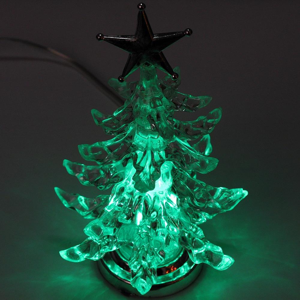Glowing Christmas Tree Change Color Silver Star Venus Festive ...