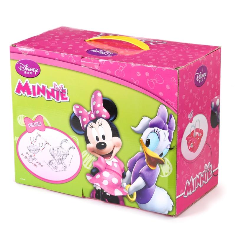 Disney Pretend Play Groceries Toys Supermarket  Mini Shopping Cart  Minnie Children's Fun Shopping Cart Toys For Children