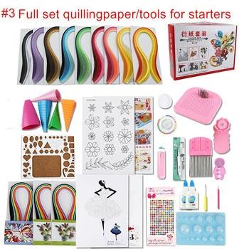 Full set starter scrapbooking quilling paper tool kit climper border tower rolling pen needle tweezer ruler paper craft DIY