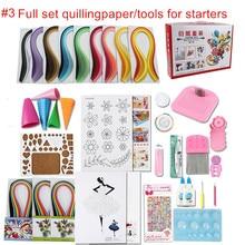 WYSE Full Set Starter Scrapbooking Quilling Paper Tool Kit Climper Border Tower Rolling Pen Needle Tweezer Ruler Paper Craft DIY