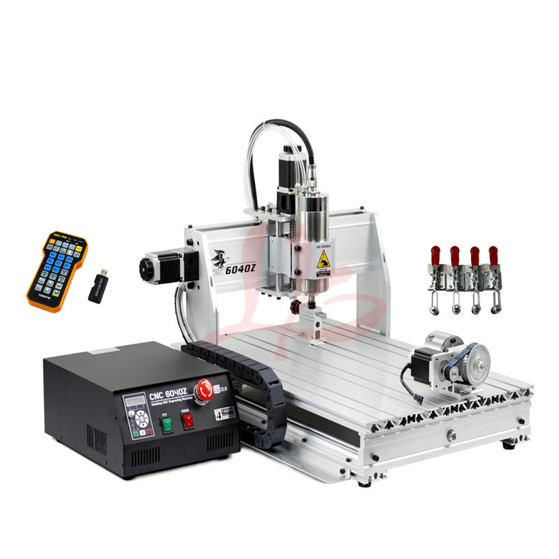 Interrupteur de limite mini bricolage CNC routeur gravure sur métal machine de découpe 6040Z 1500 W port USB PCB fraisage