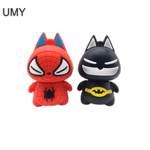 USB flash drive cartoon superhero pen 4GB 8GB 16GB 32GB 64GB  cute batman/spiderman memory stick lovely gift pendrive