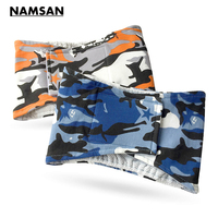 Namsan Orange Camouflage Washable Male Dog Diapers Pet Belly Wrap Toilet Training Diaper Physical Sanitary Underwear