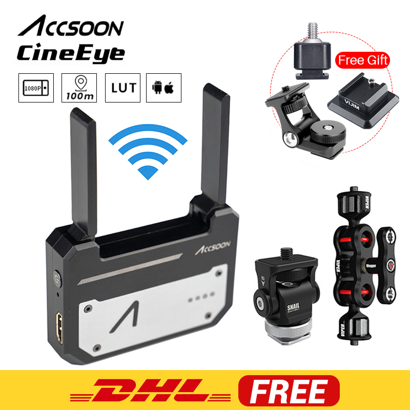 In Stock Accsoon CineEye 5G sans fil 1080 p WiFi HDMI transmetteur Transmission d'image vers 4 appareils pour Android IOS Garyscale RGB
