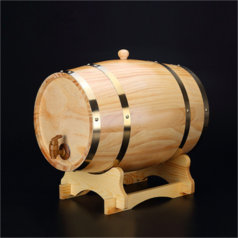1.5L-3L beer brewing keg Vintage Wood Oak Timber Wine Barrel for Whiskey Rum Port Decorative Barrel Keg Hotel Restaurant Display(China)