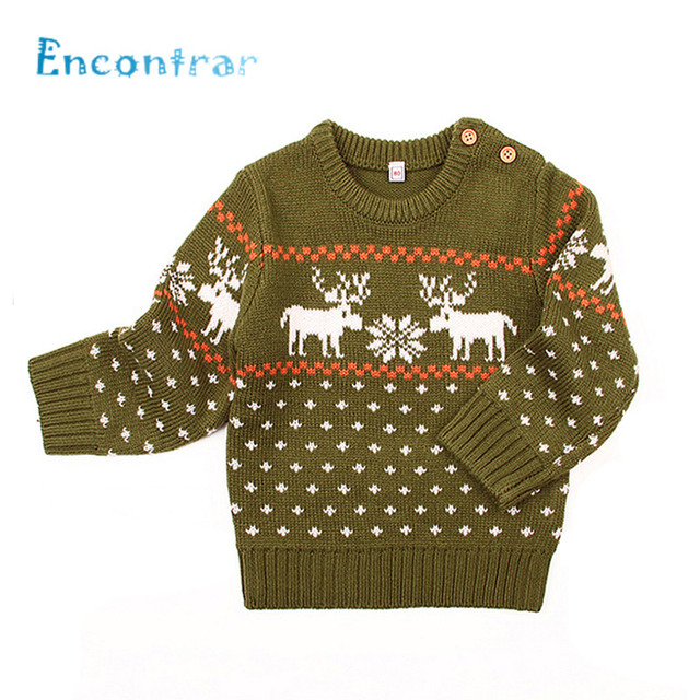9a758a49a Encontrar Baby Deer Pattern Winter Knitted Clothes Boys/Girls O-Neck Pullovers  Sweaters Newborn