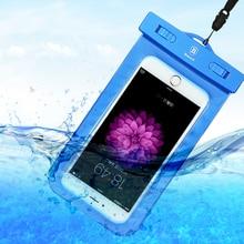 BASEUS Универсальный водонепроницаемый мобильный телефон чехол для iPhone 5 6 7 Samsung S7 края пляжные подводный сотовый телефон Сумка