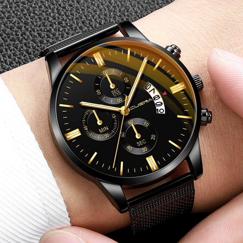 2019 New Brand Relogio Masculino Watches Men Fashion Sport Stainless Steel Band Watch Quartz Business Wristwatch Reloj Hombre