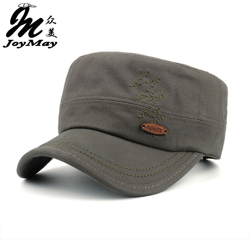 Joymay  Spring Summer New Man Embroidery Baseball cap Adjustable flat cap Fashion Leisure Casual Snapback HAT P006 man woman vintage military washed cadet hat army plain flat cap