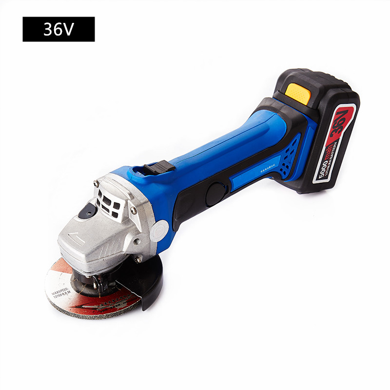 36v Rechargeable Lithium Battery Cordless Angle Grinder Grinding Machine Polishing Cutting Grinding Sanding Wax power Tools