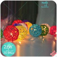 5CM 20 Latterns Led DIY Colourful Fairy Light Decoration For Christmas Tree Home Outdoor Indoor Weddings