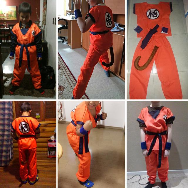 Dragon Ball Z Costume Son Goku Monkey King Cosplay