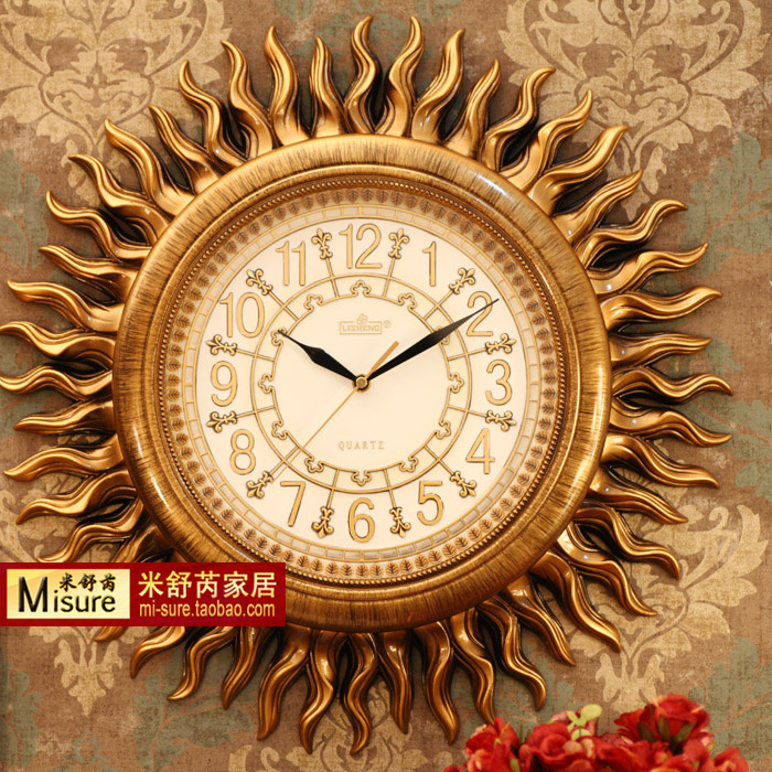 Counters authentic Antique decoration European wall clock Quiet sitting room clocks H069K send accessories spot