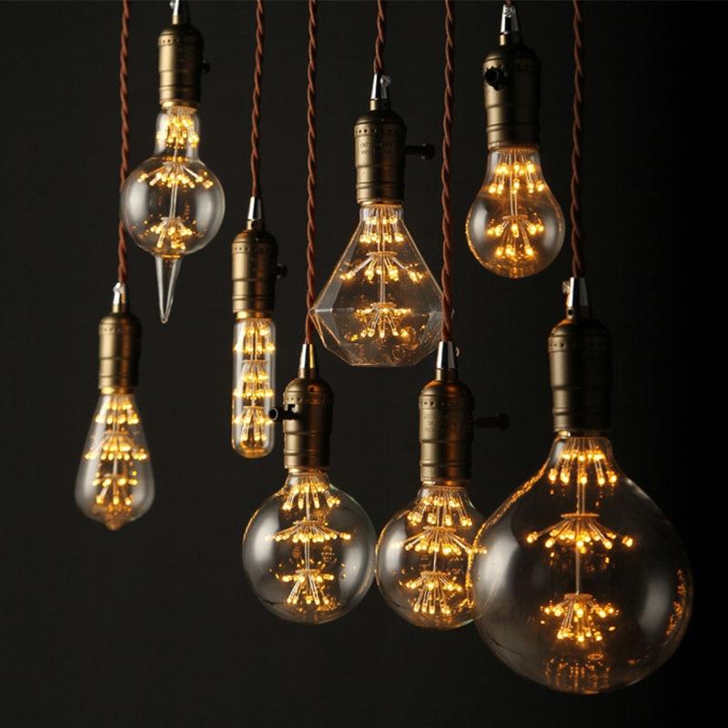 1 x Antique Vintage Retro Edison Light Bulbs 220V E27 3W Incandescent Light Bulbs P15