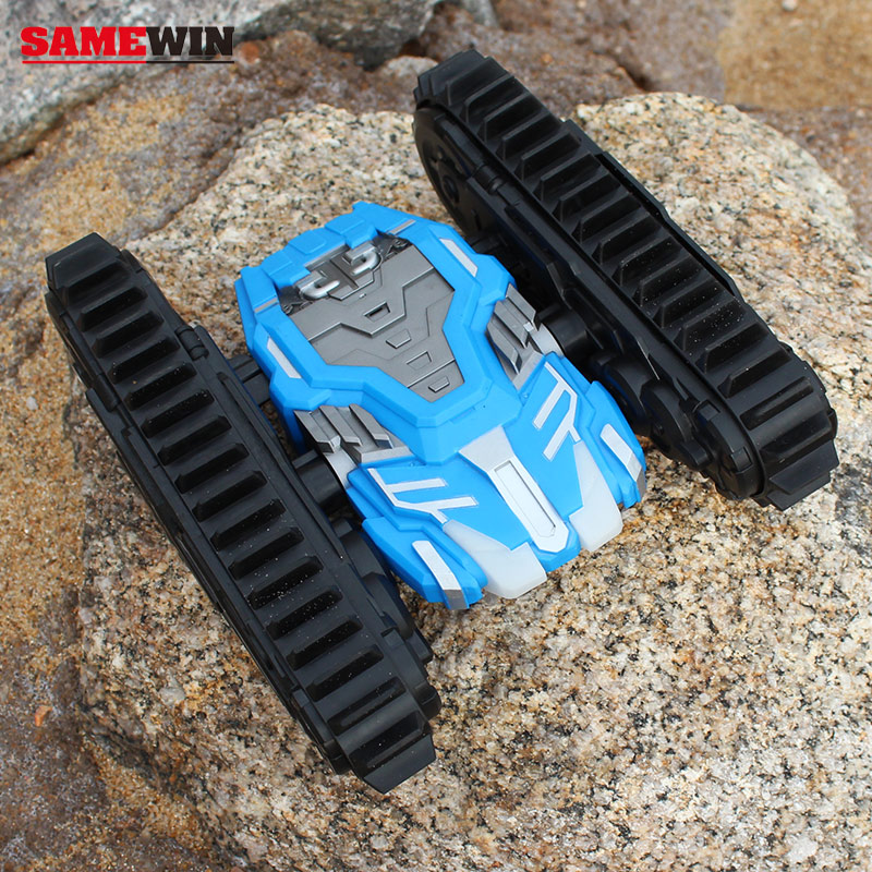 2.4G Rugged double-faced Caterpillar remote control car suv Bumpy off-road RC Tank Rock through