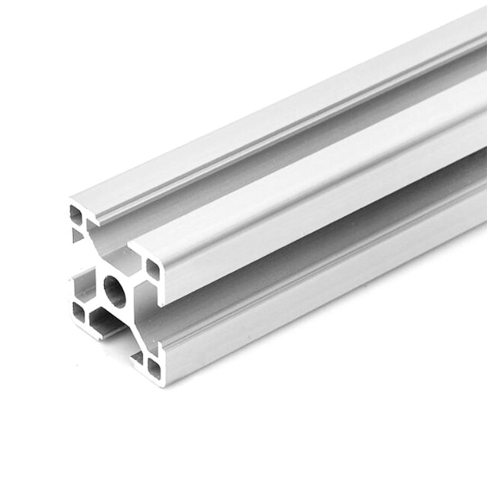 1 шт. 3030 алюминиевый профиль экструзии мм 800-100 мм длина Европейский стандарт анодированный линейный рельс для DIY ЧПУ 3d принтер верстак