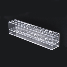 Transparent 24 Spaces Acrylic Eyebrow Pencil Holder Cosmetic Organizer Display Storage Showcase