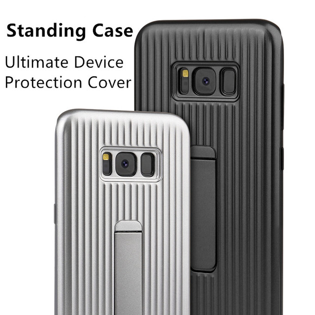 finest selection cbc78 278e2 US $6.11 49% OFF|Standing Ultimate Device Protection Phone Cover For  Samsung Galaxy S8 S8 Plus S8+ S7 EDGE SM G9500 G9550 G9350 Hard Back  Cover-in ...