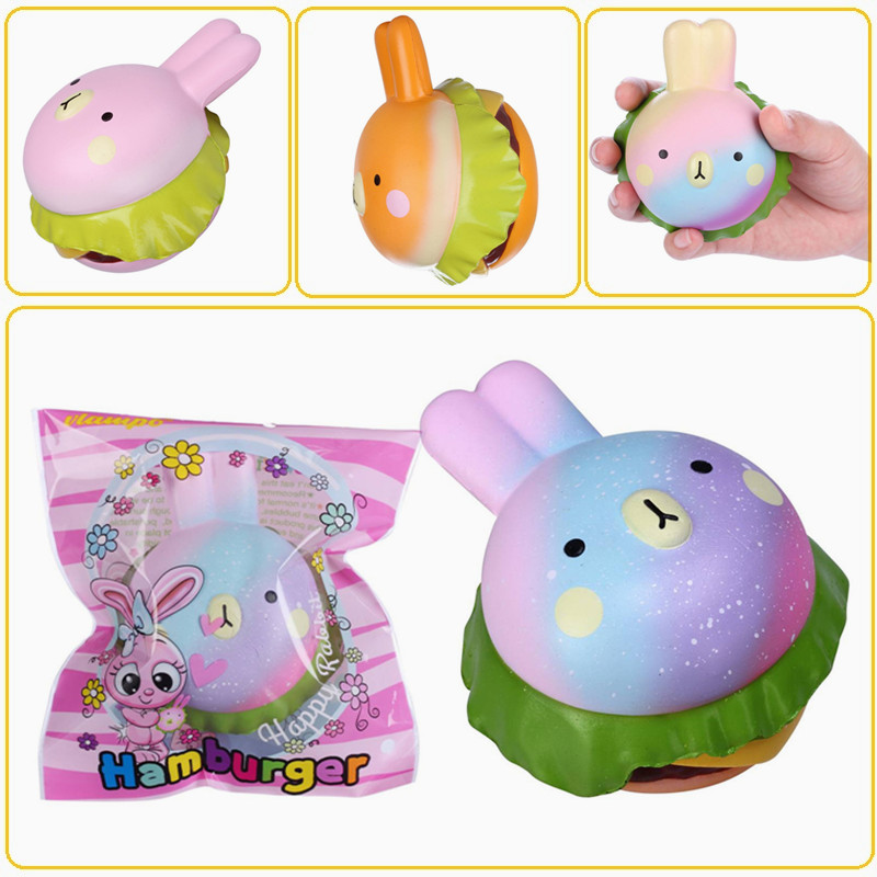 Bunny Wishes Squishy : Vlampo Squishy Rabbit Hamburger Bunny Slow Rising Original Packaging Burger Collection Gift ...