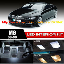 цена на Free Shipping 12Pcs/Lot car-styling Xenon White Canbus Package Kit LED Interior Lights For 06-10 BMW M6