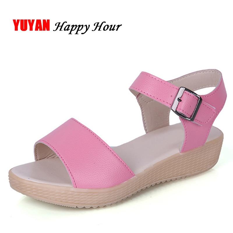 Flat Platform Sandals Women Summer Shoes Soft Comfortable Fashion Brand Women's Sandals ZH2860 cbm1080 a1 cbm1080 a2